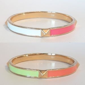 Kate Spade Single four color Pyramid Bangle